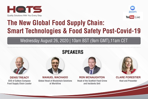 HQTS Live Webinar: The New Global Food Supply Chain: Smart Technologies & Food Safety Post-Covid-19