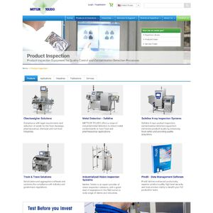 METTLER TOLEDO Product Inspection Website