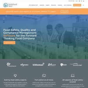 Safefood 360 - Food Safety Management Software Website