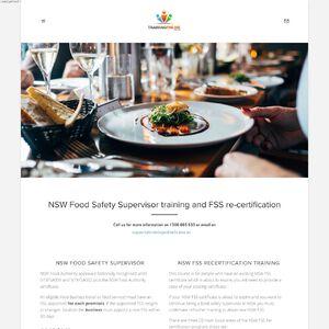 Training Online Food Safety Website