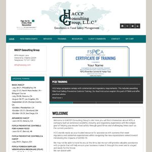 The HACCP Consulting Group, LLC Website
