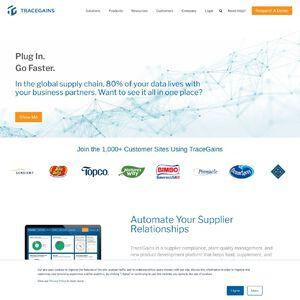 TraceGains Website