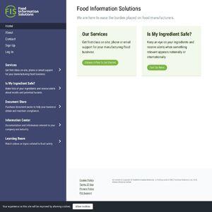 Food Information Solutions Website