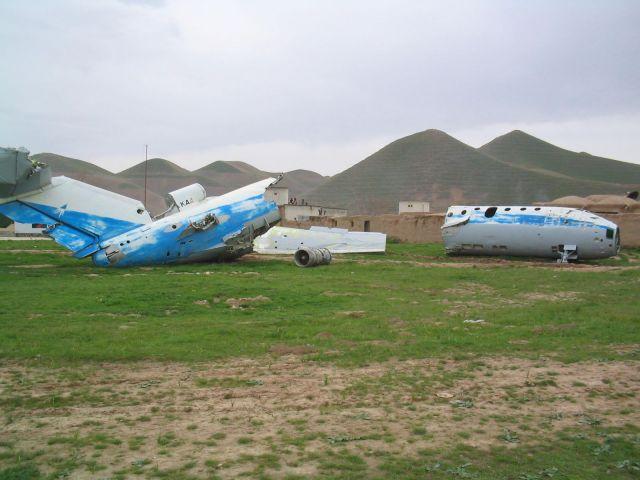 Wrecked plane, Qala-e-Nau, Afghanistan